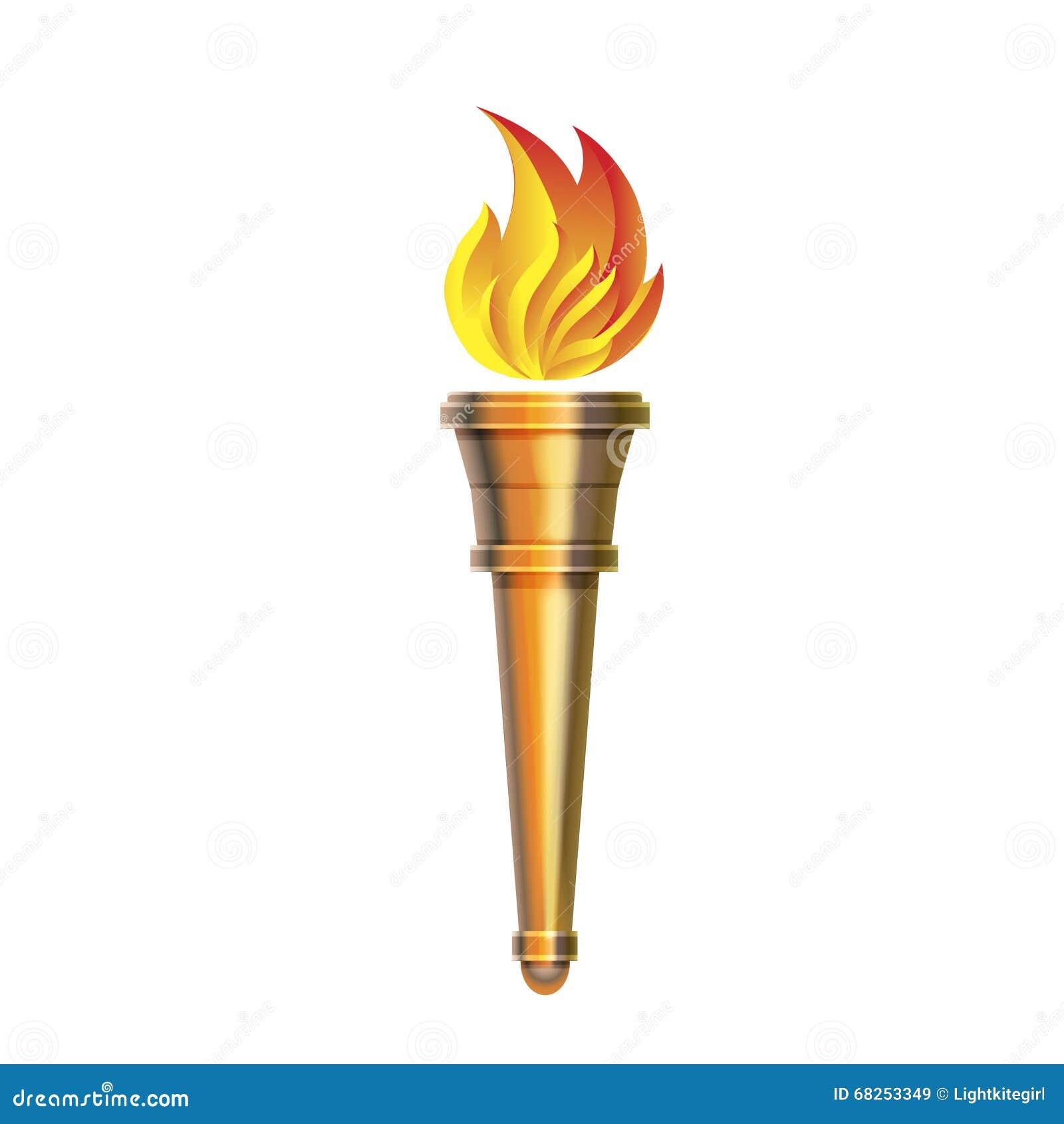 Pochodni ikona - Wektorowy Gorący płomień, zasila płonąć,