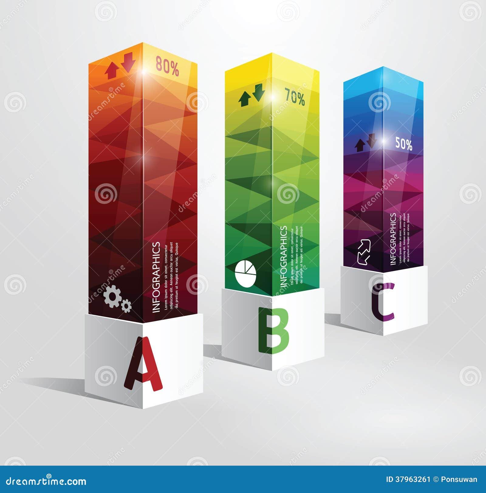 Pocilga mínima del diseño moderno de la caja de la plantilla de Infographic