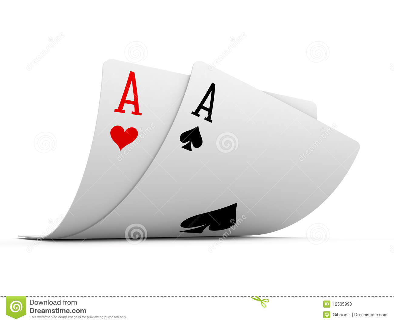 Pocket Aces Stock Photos - Image: 12535993
