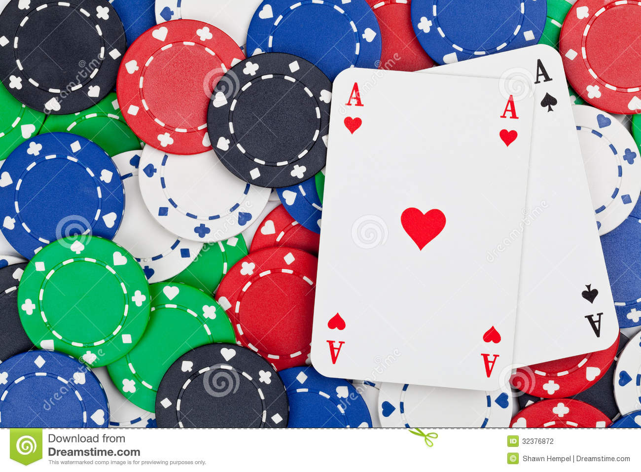 probability of a pair of aces in poker