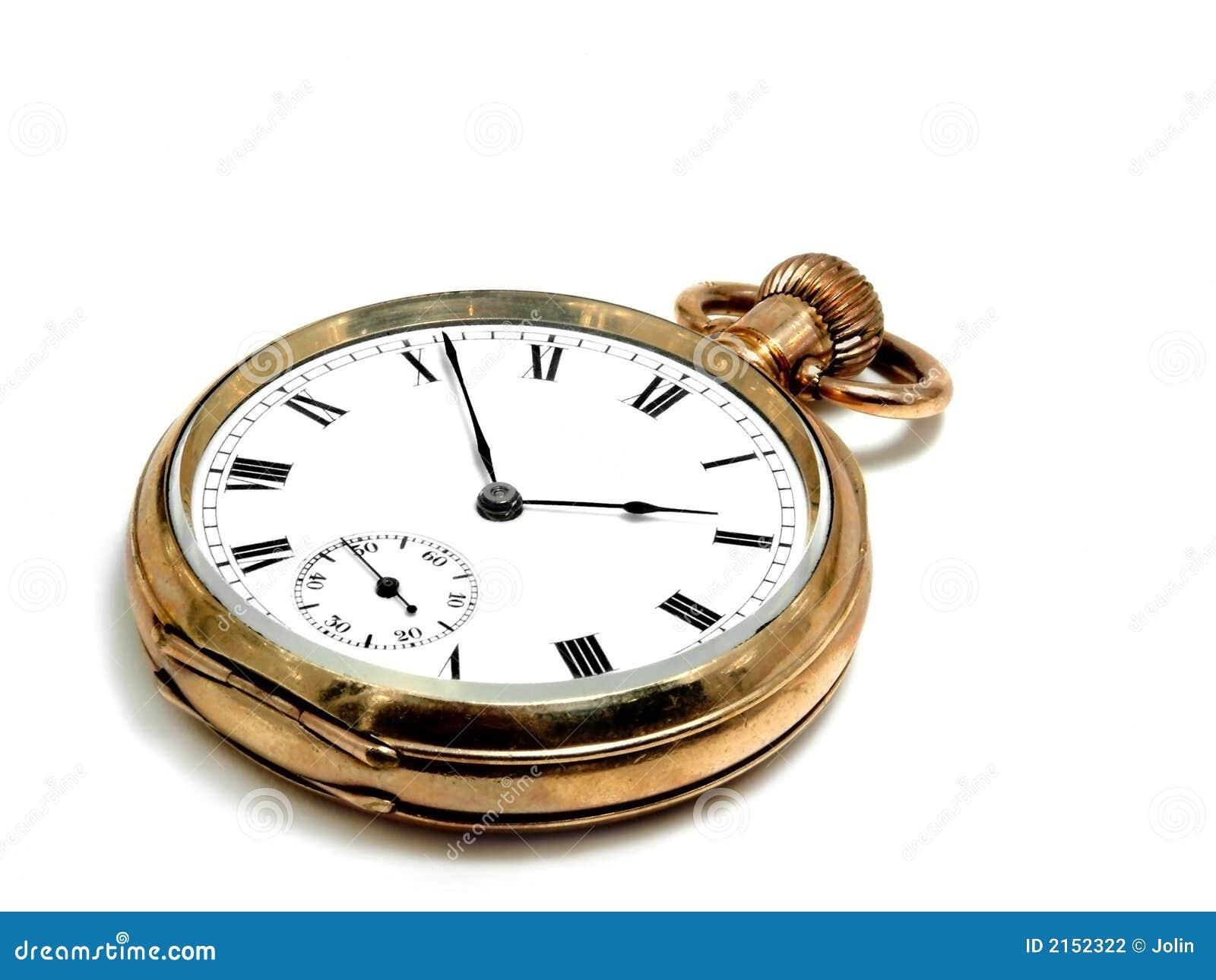 Pocket clock in gold
