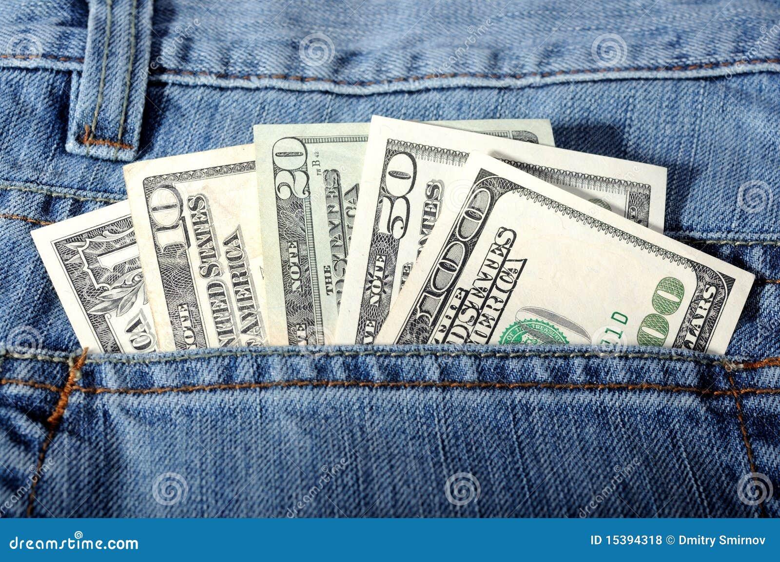 Pocket Money Royalty Free Stock s Image