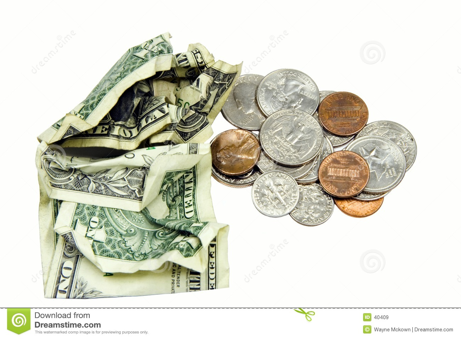 Pocket money.