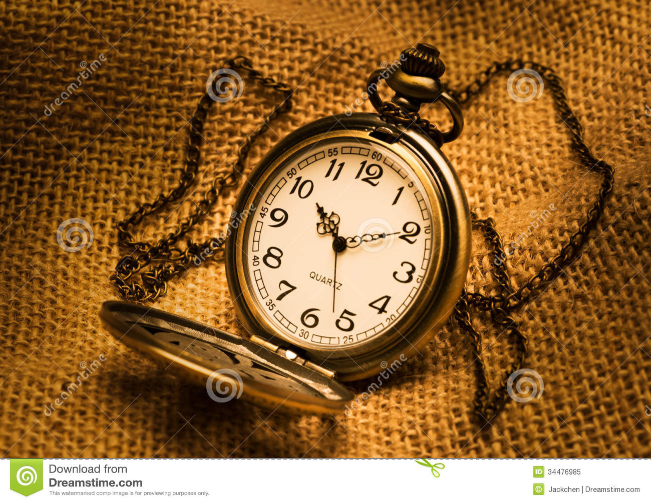 Pocket Watch With Gunny Royalty Free Stock Photo - Image ...