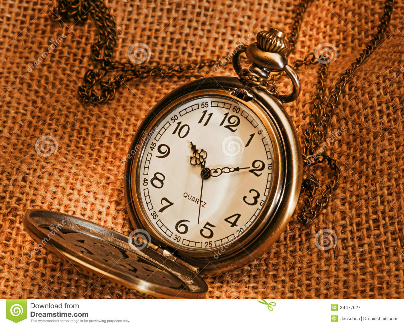 Pocket Watch With Gunny Royalty Free Stock Photography ...