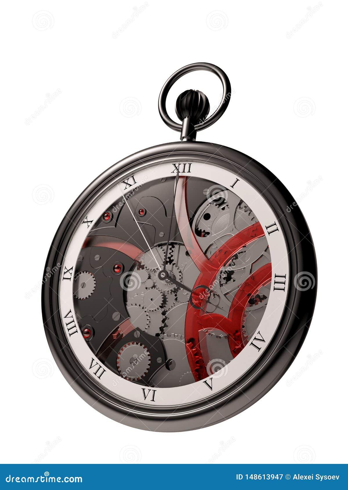 Pocket watch steampunk black 3d
