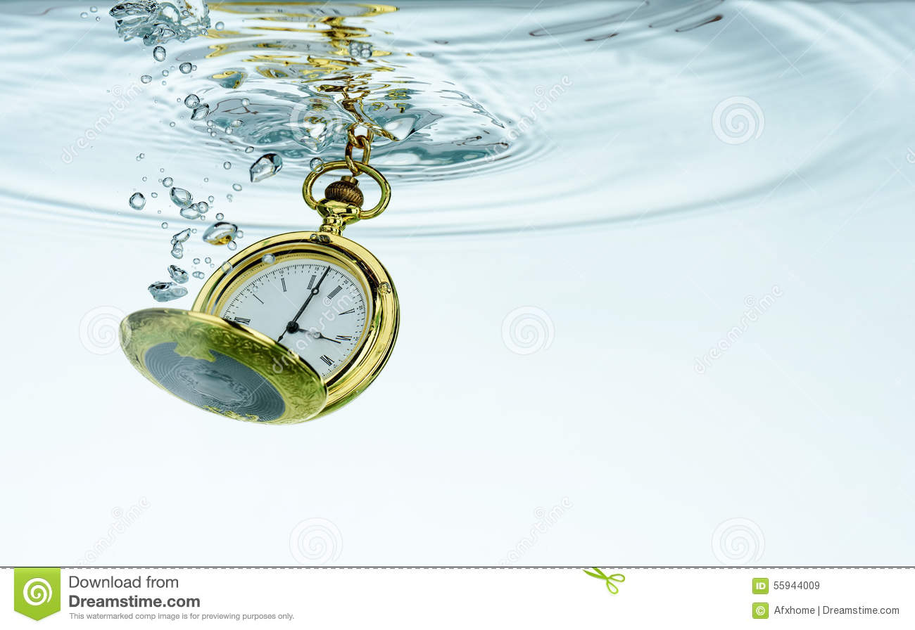 Pocket watch in water stock photo image 55944009 for Youtube h2o