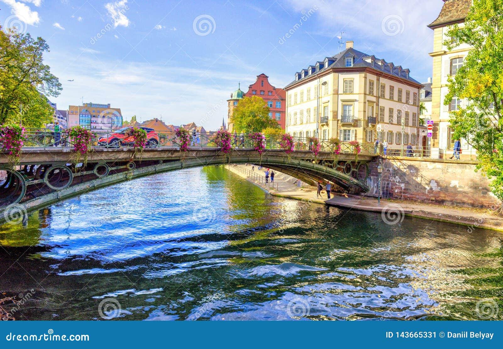 Poco La Petite France, un cuarto histórico de Francia de la ciudad de Estrasburgo en Francia del este
