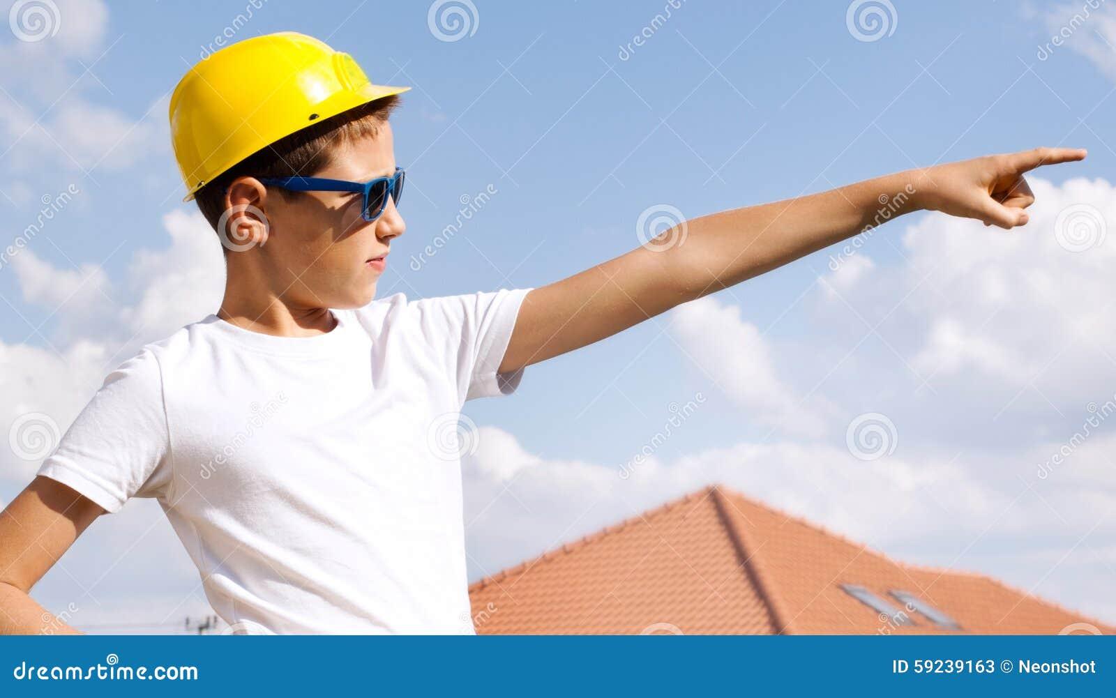 Poco trabajador de construcción