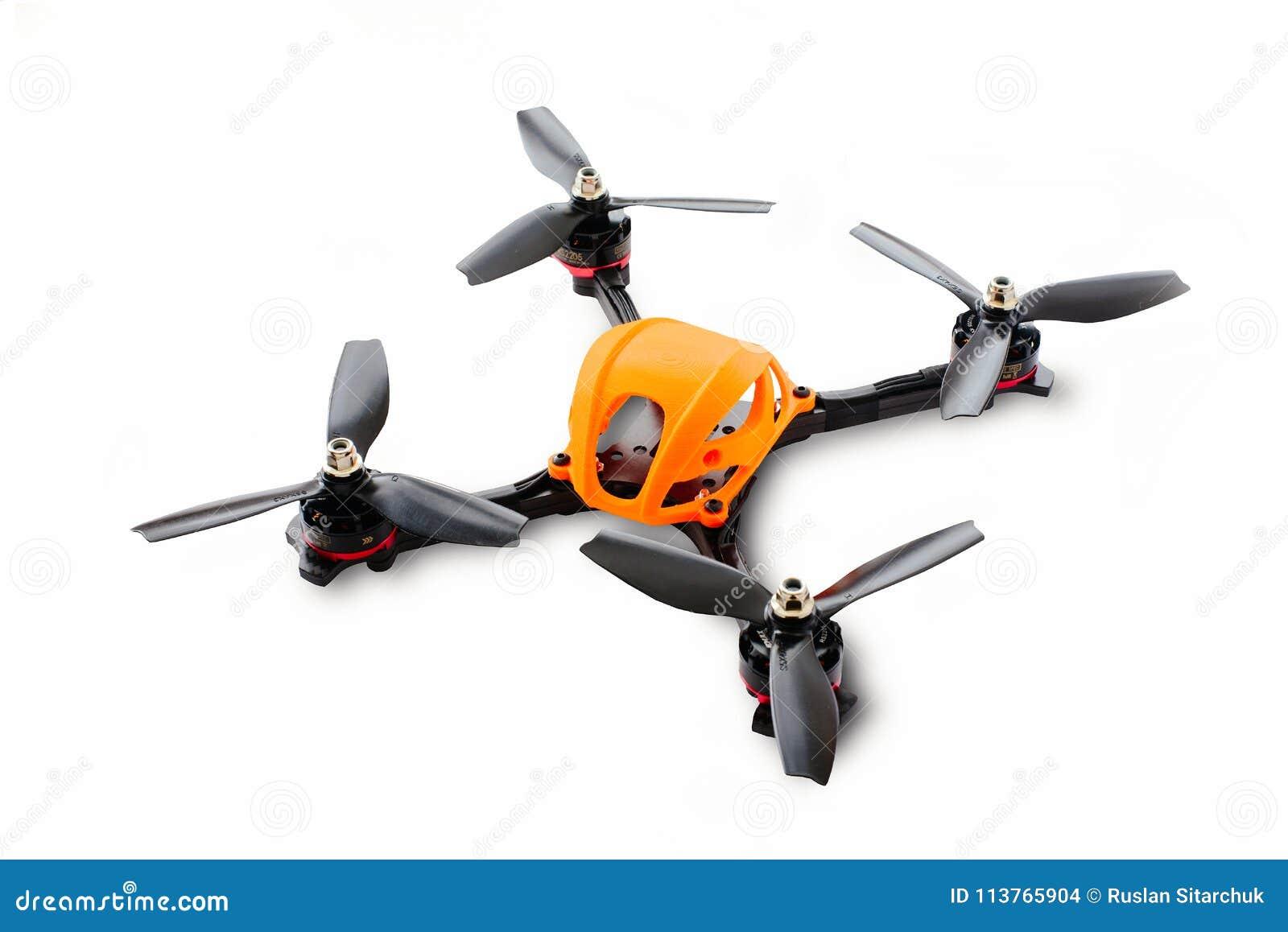 Początek bieżny trutnia zgromadzenie Trwałej rzeczy rama bezpilotowy powietrzny pojazd, robić węgla włókno i 3d druk, iso