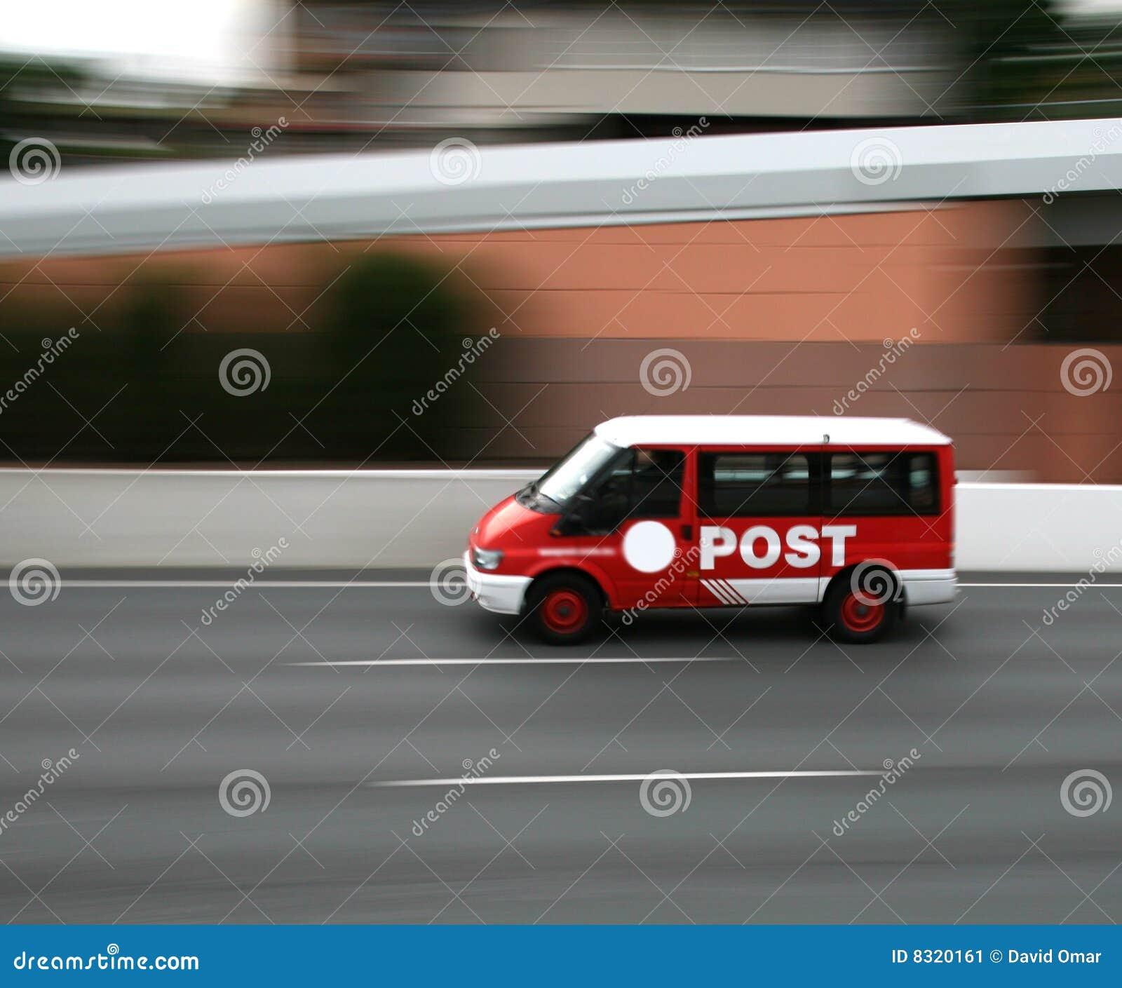 Poczta biurowy samochód dostawczy