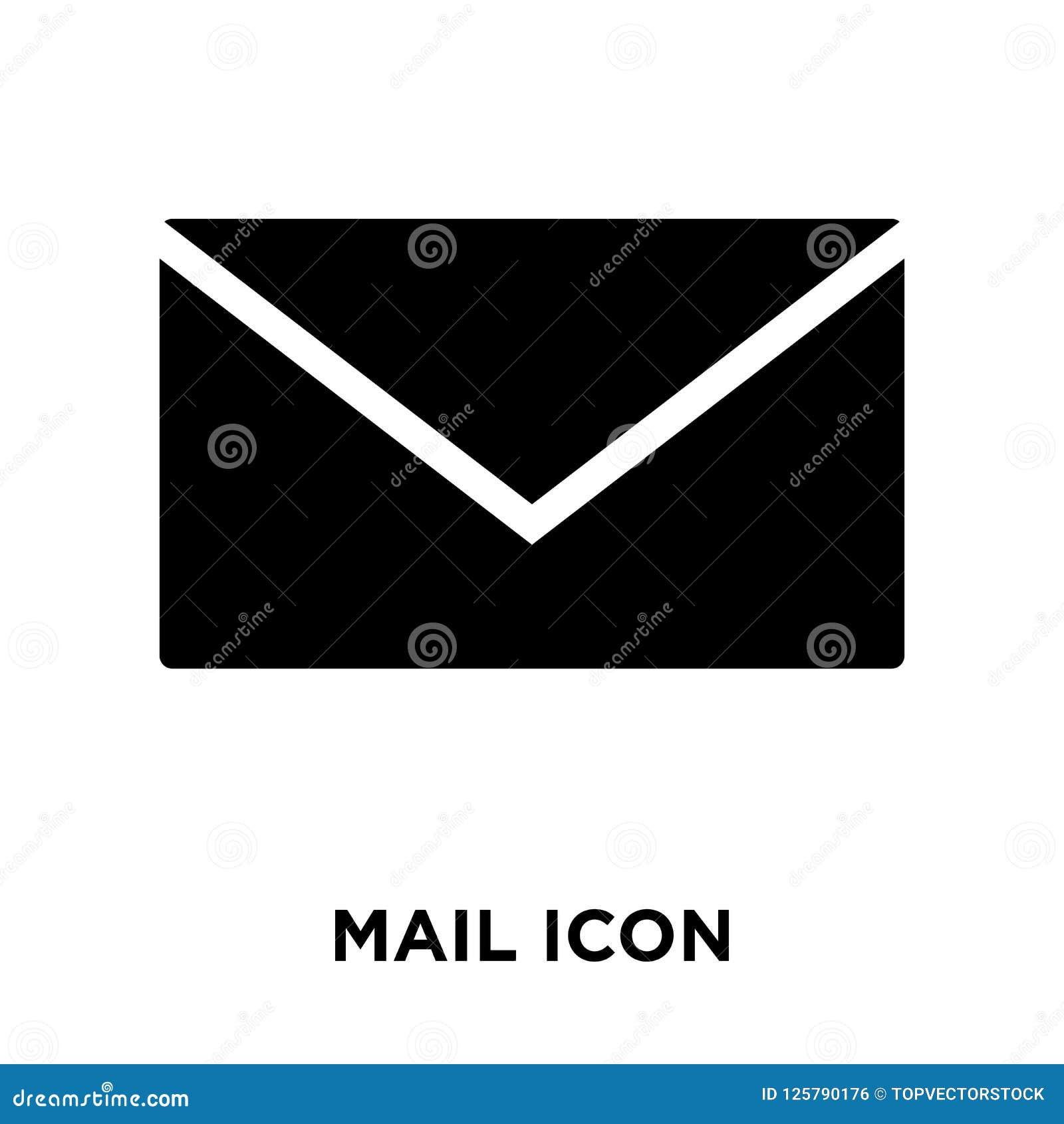 Poczta ikony wektor odizolowywający na białym tle, loga M pojęcie