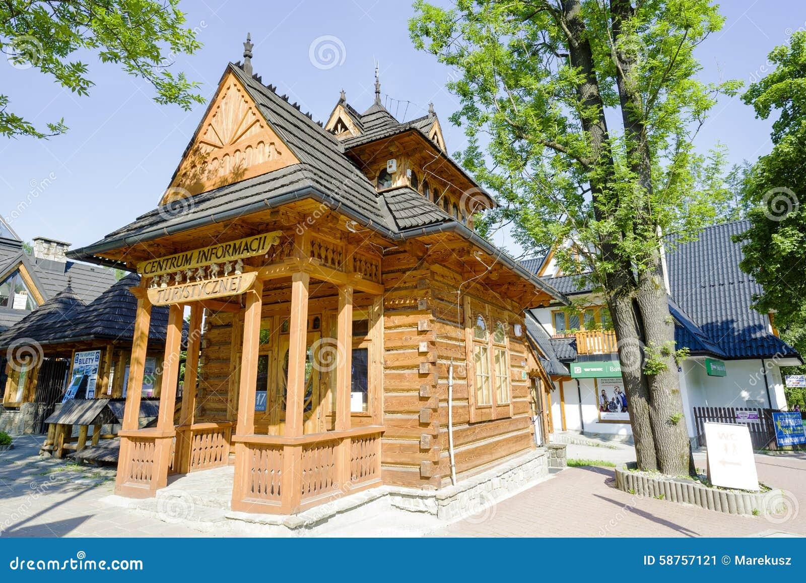 Pocztowka Small Wooden House In Zakopane Editorial Photo Image Of