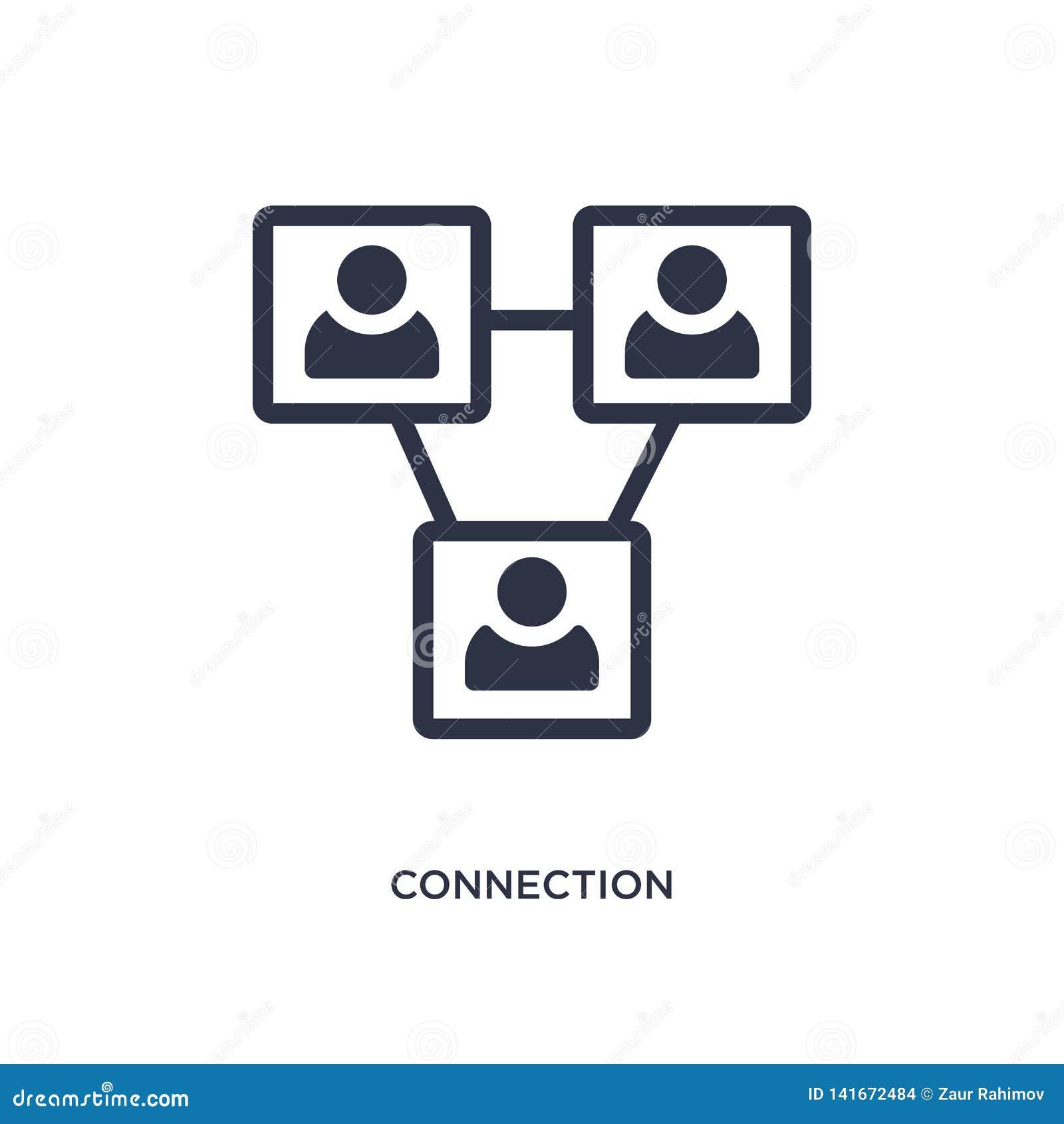 Podłączeniowa ikona na białym tle Prosta element ilustracja od strategii pojęcia