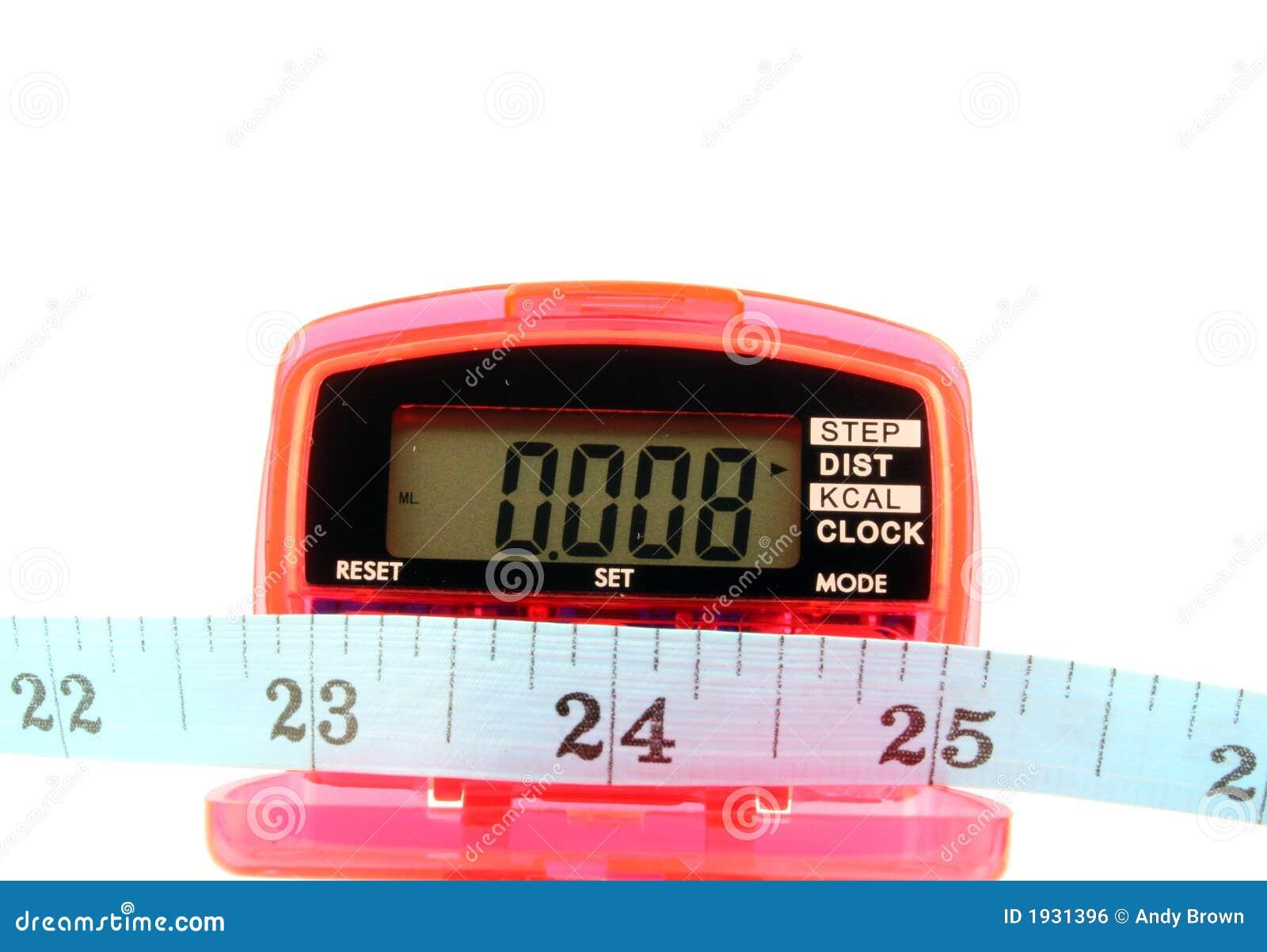 Podómetro con cinta métrica