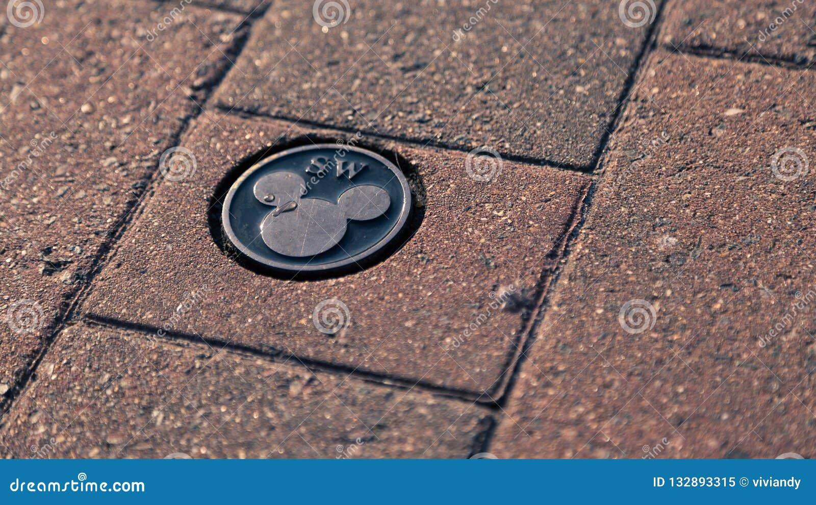Podłogowy Disney Mickey Mouse logo