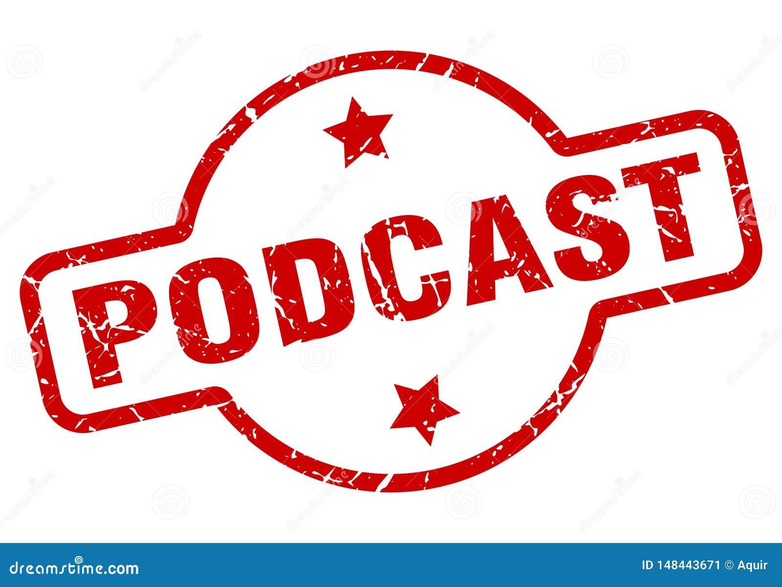 podcast stamp