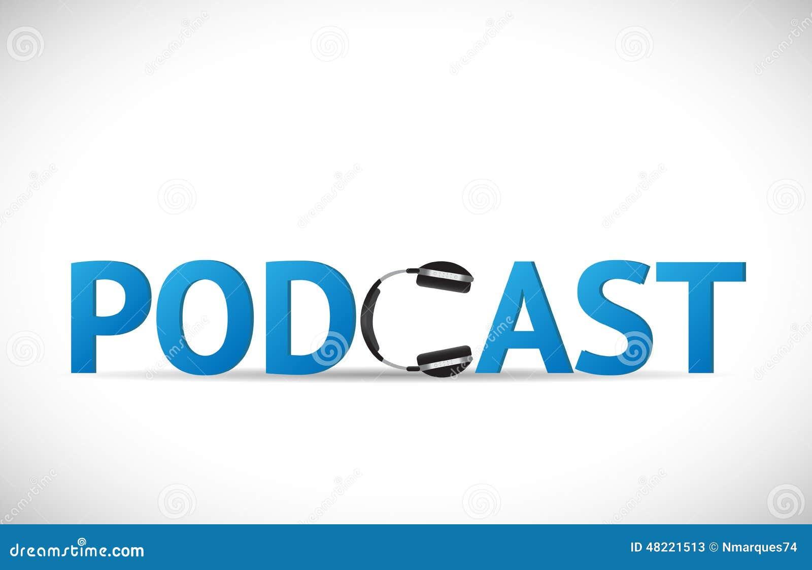 Podcastillustratie