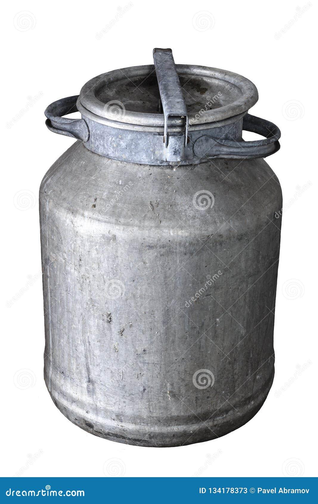Poder de aluminio de la leche del vintage