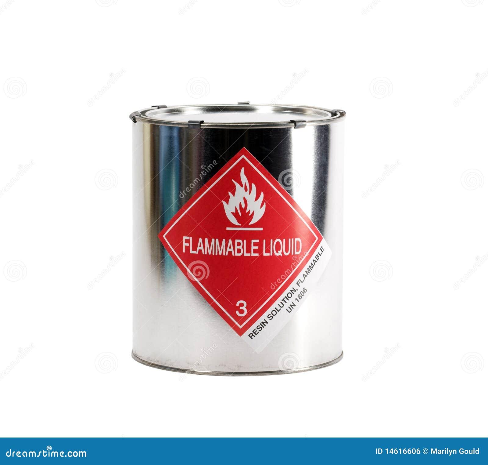 Poder del líquido inflamable del metal