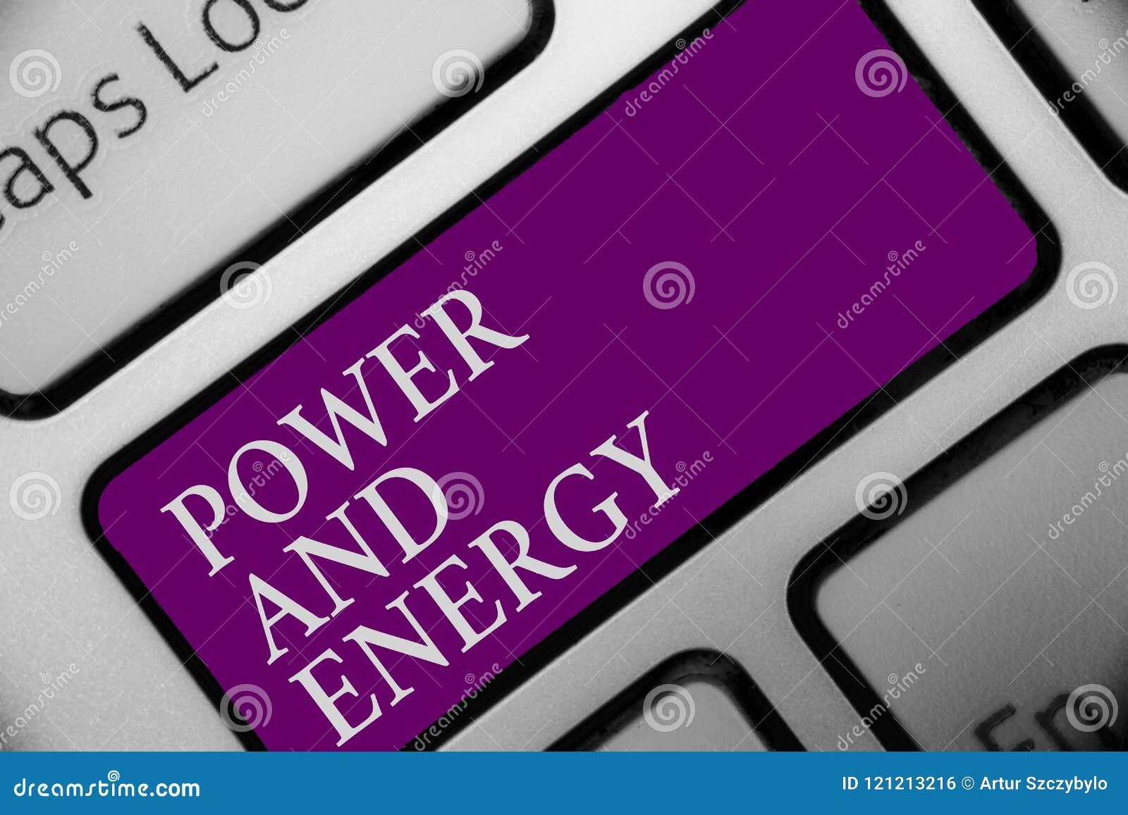 Poder e energia do texto da escrita Da indústria elétrica da distribuição da eletricidade do significado do conceito o botão ener