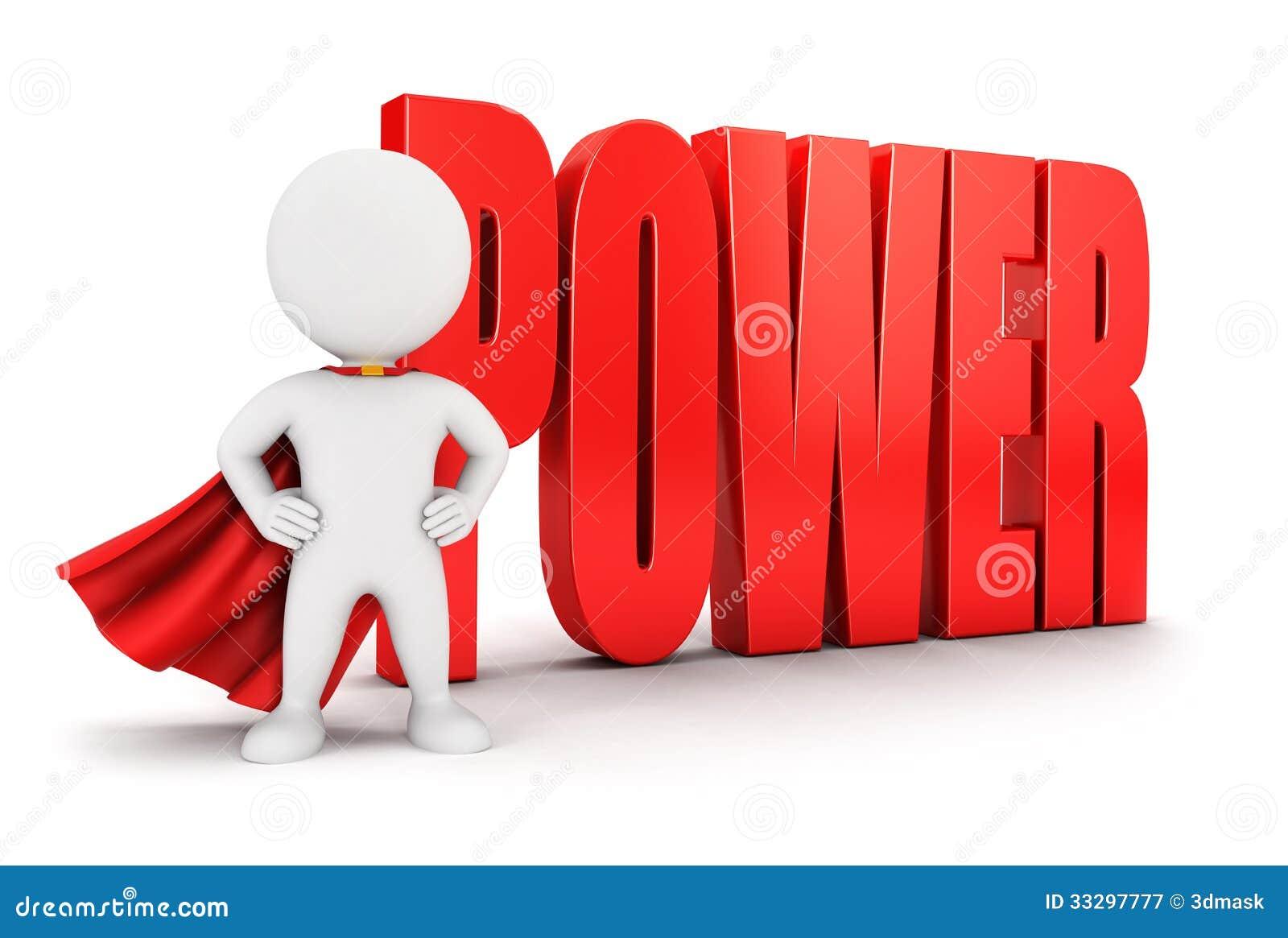 Poder popular del blanco 3d