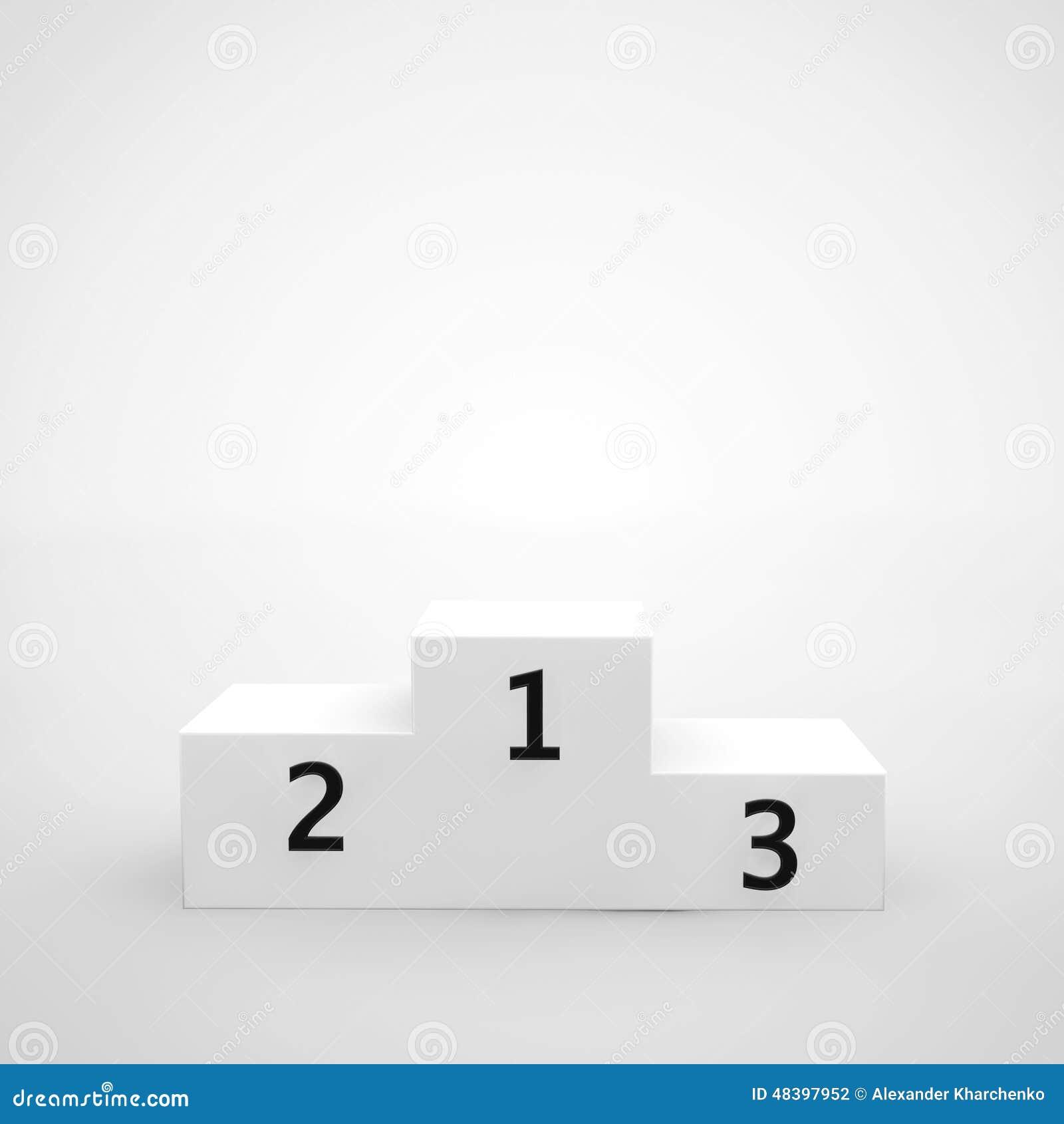 Podium blanc de gagnants illustration stock image 48397952 - Dessin podium ...