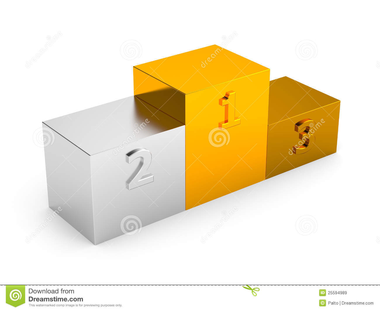 podium with first  second and third places royalty free stock images