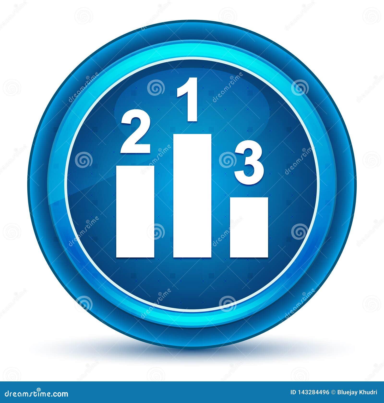 Podium ikony gałki ocznej round błękitny guzik