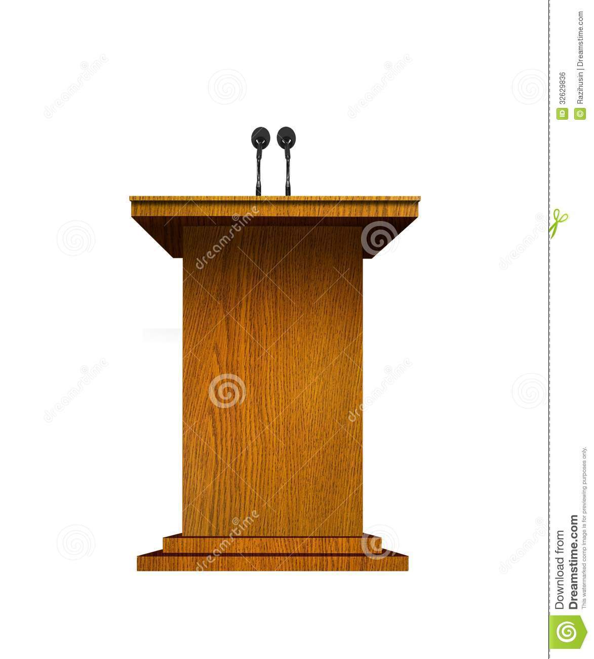 podium and microphones royalty free stock image