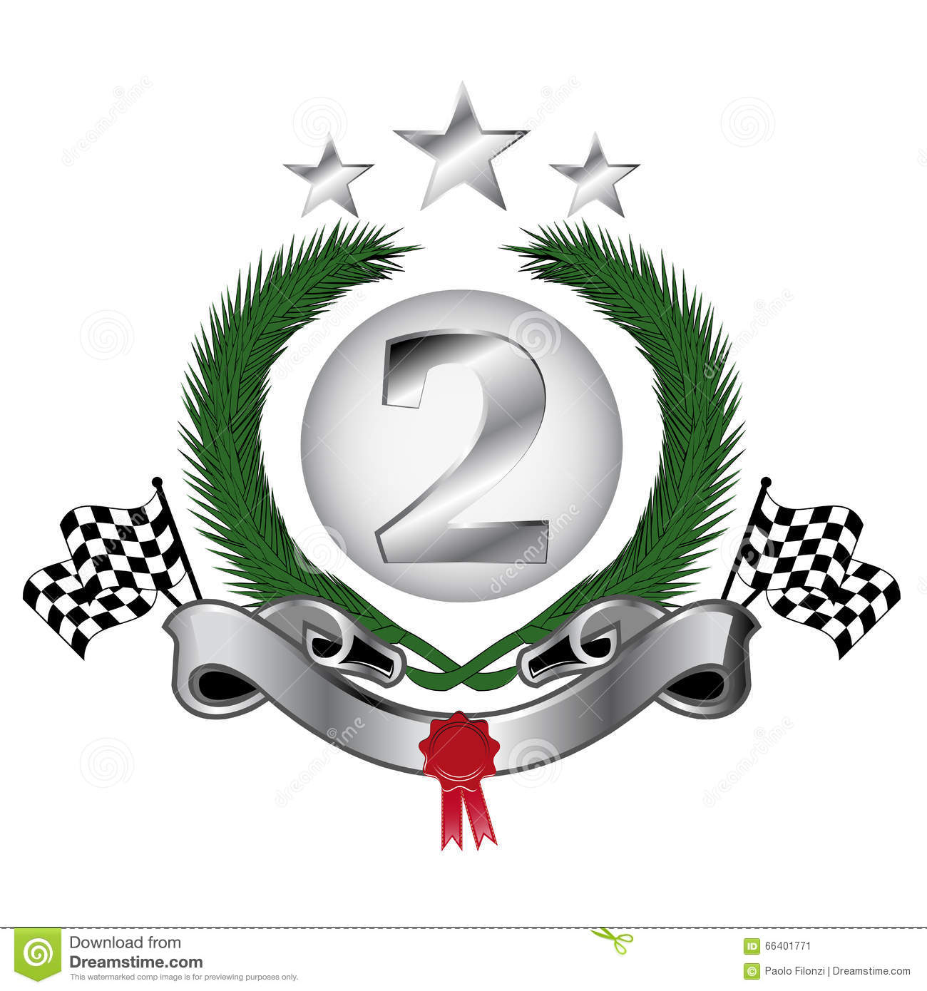 2nd place stock vector illustration royalty free 2nd place clipart - Podium For Second Place Stock Vector Image 66401771