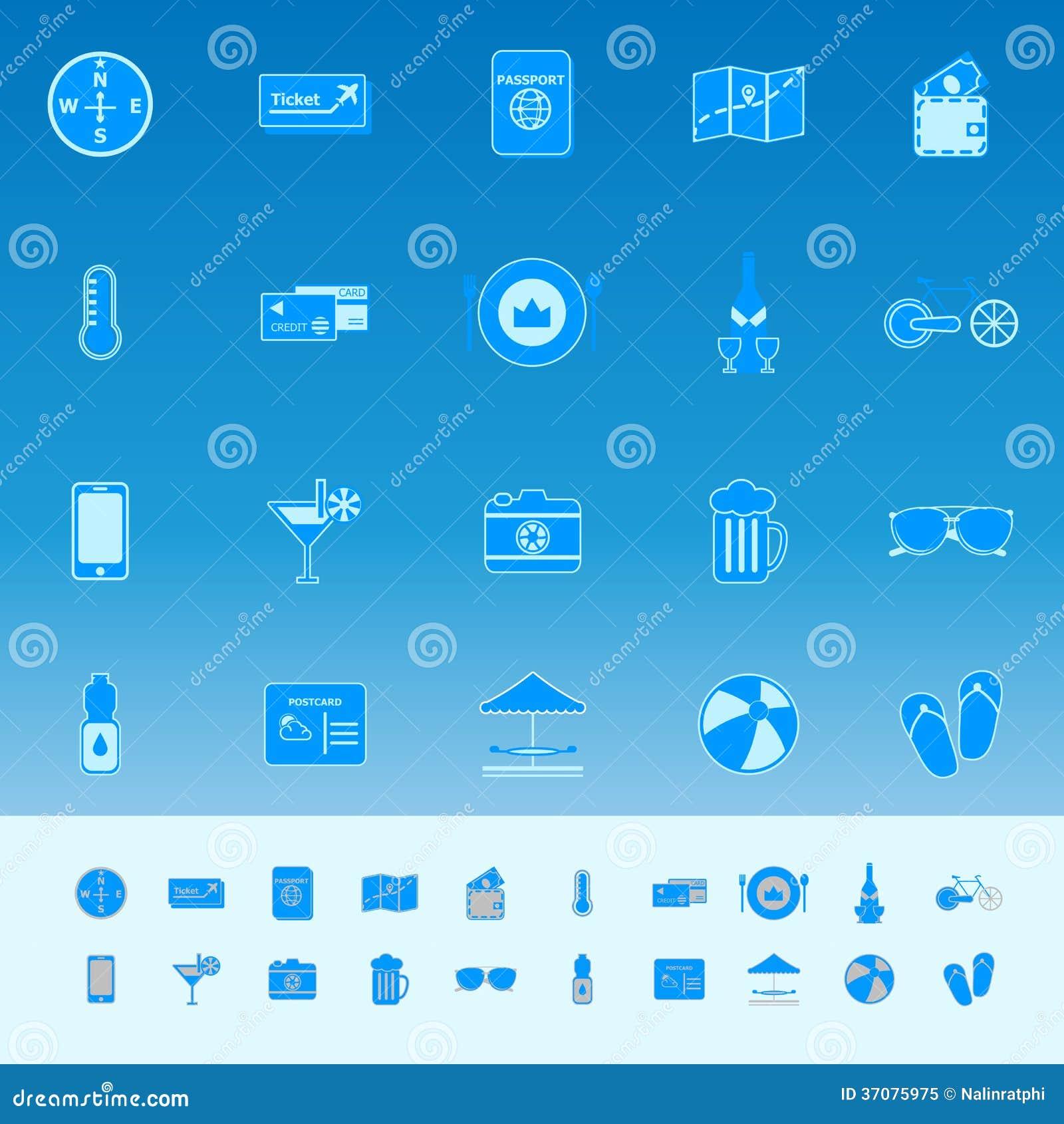 Download Podróż Koloru Ikony Na Błękitnym Tle Ilustracja Wektor - Ilustracja złożonej z napój, mapa: 37075975