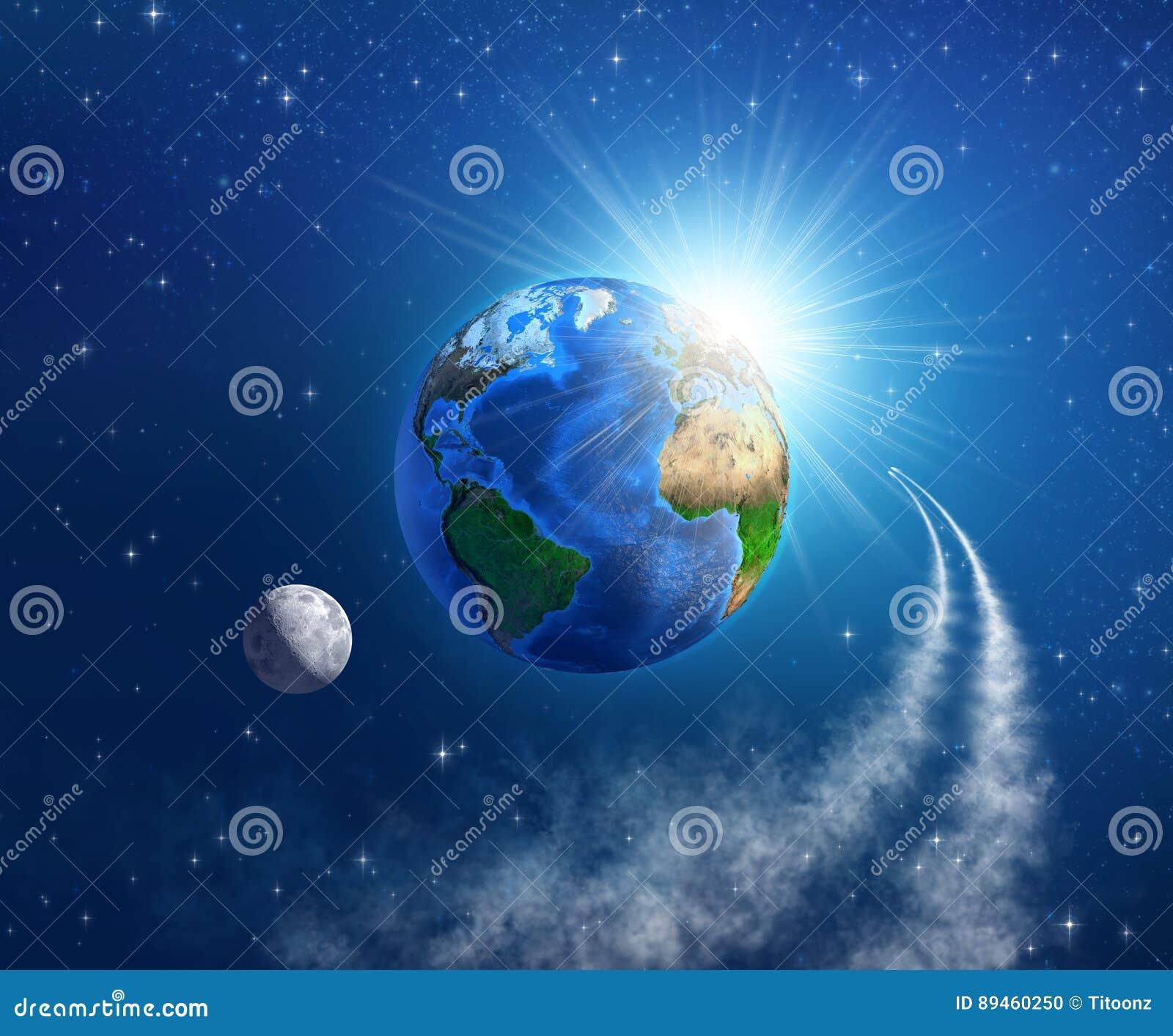 Podróż kosmiczna wokoło ziemi