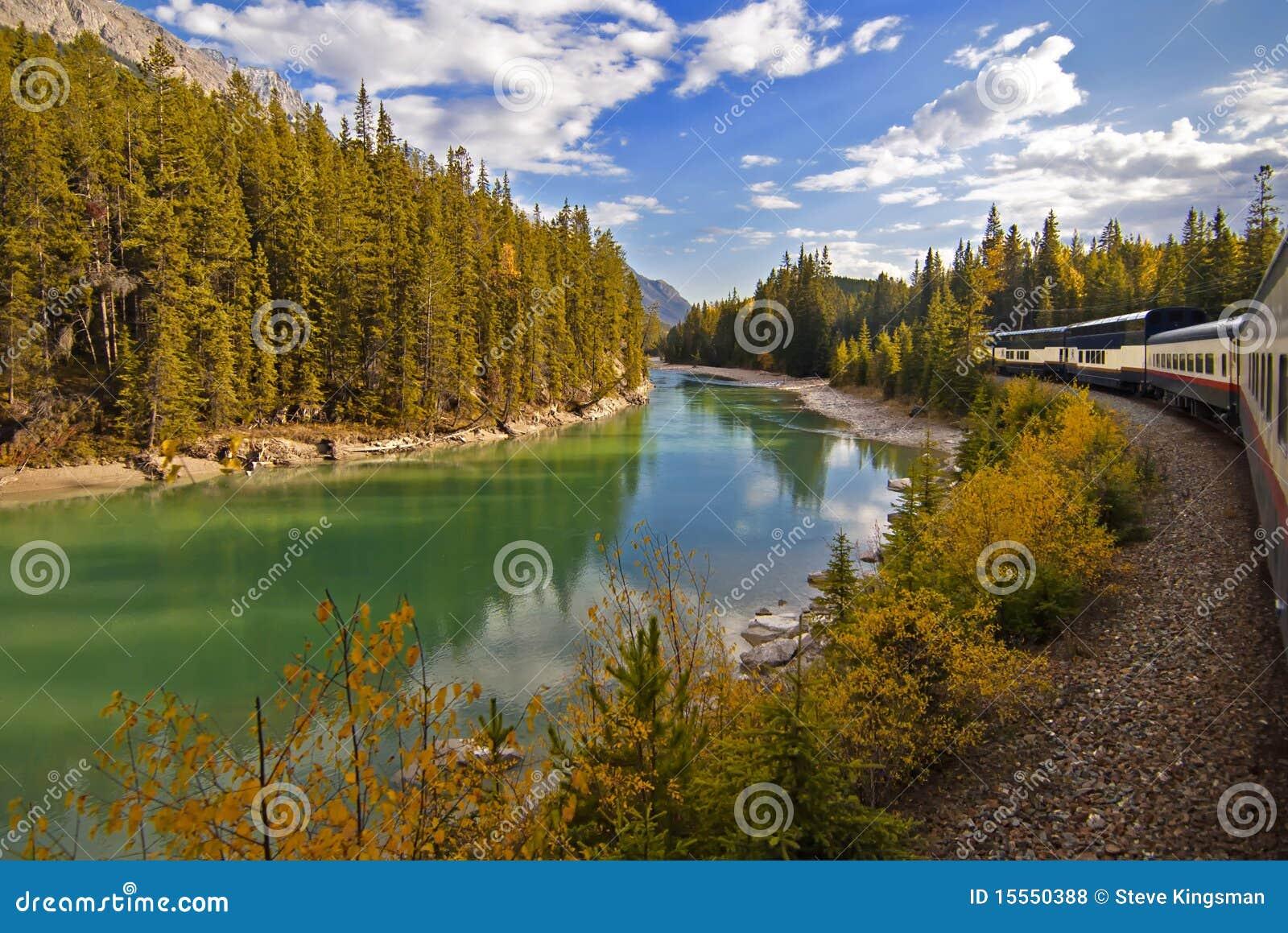 Podróży Rockies pociąg