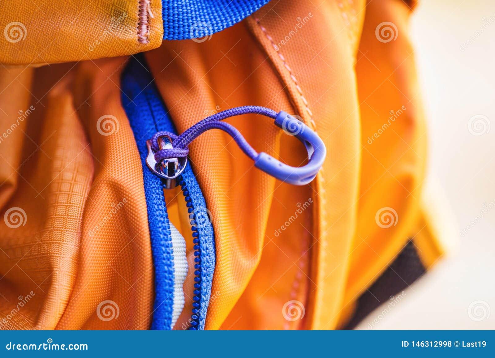 Podr??y torba Zamka błyskawicznego kędziorek na plecaka kolorze żółtym