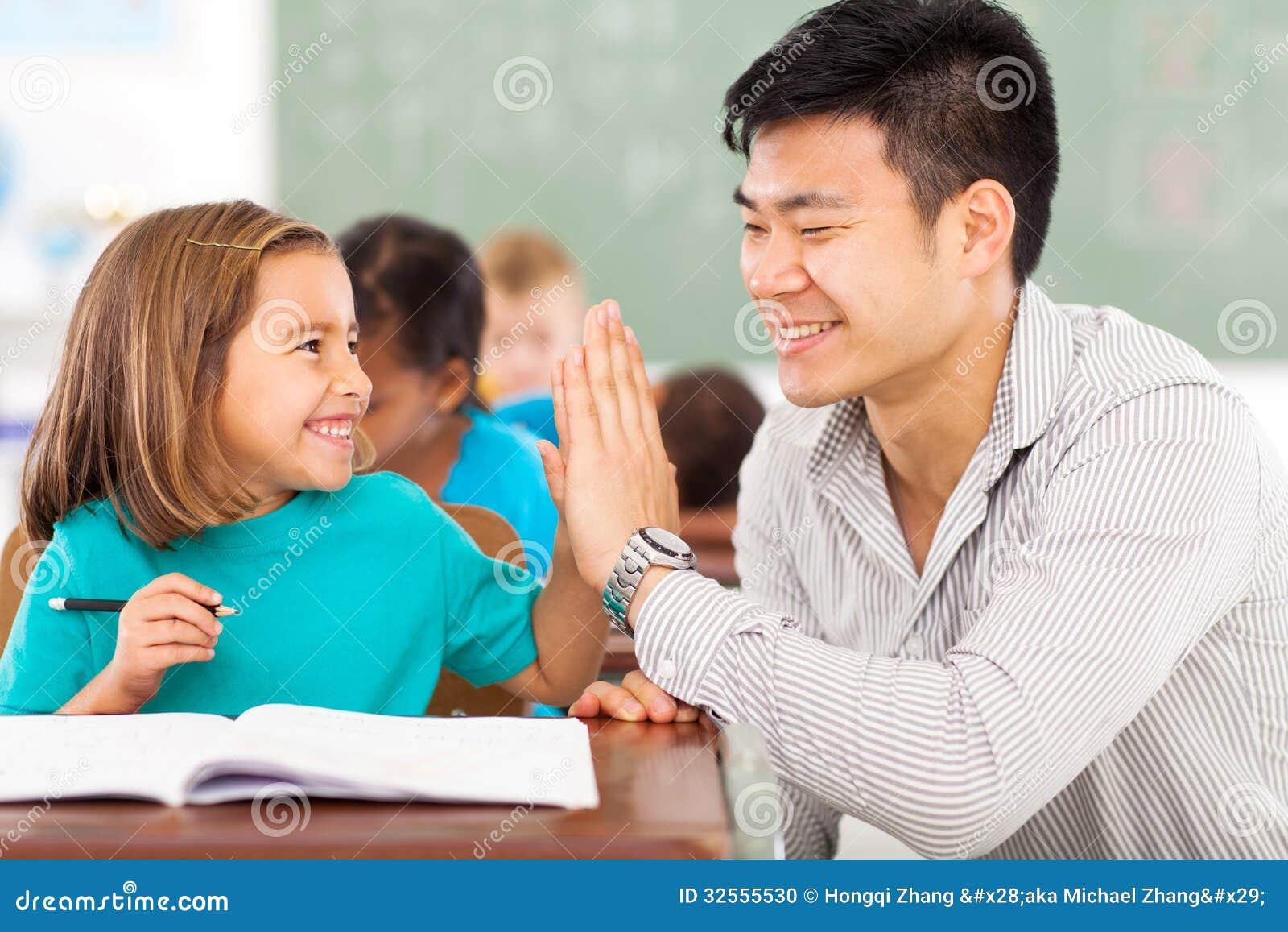 Podstawowego nauczyciela uczeń