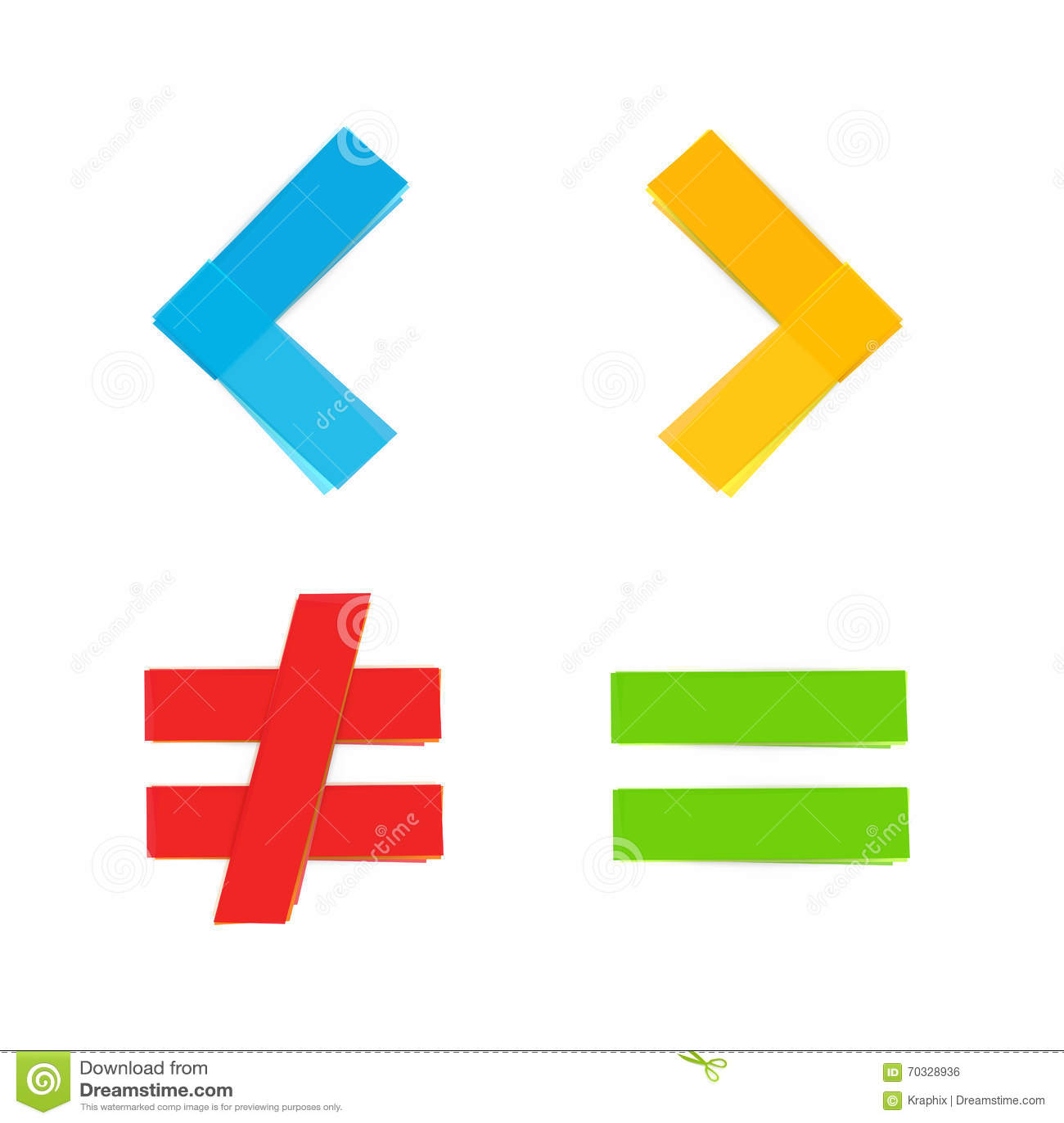 Podstawowy matematycznie symboli/lów równy mniej wielki
