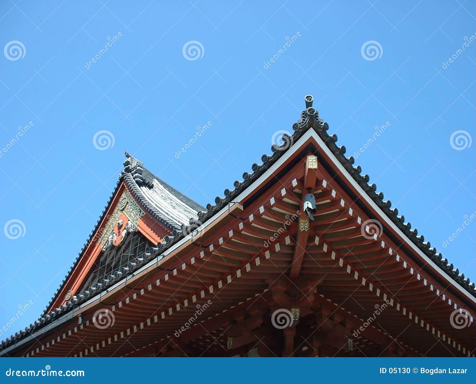 Podwójny dach widok świątyni
