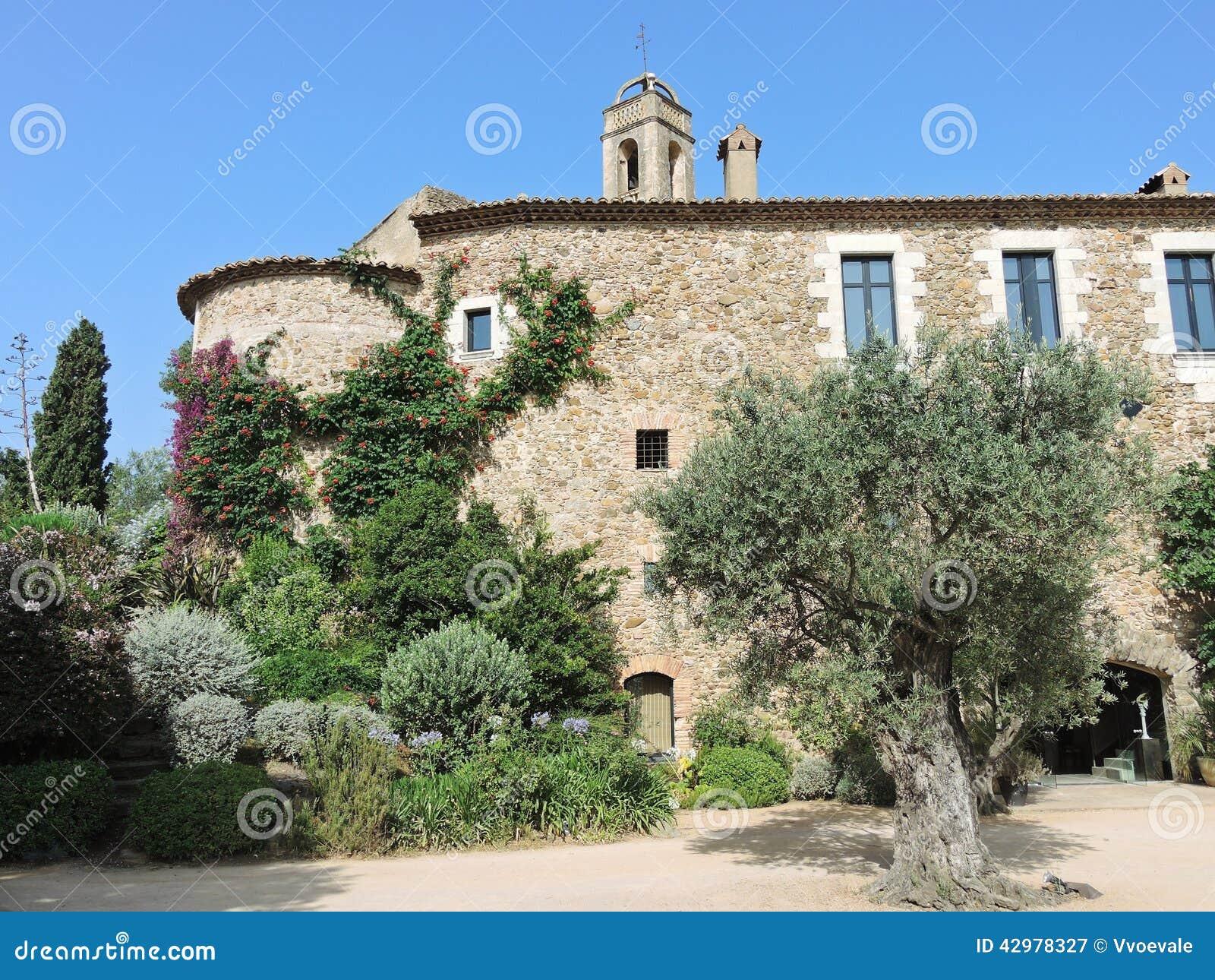 Podwórze średniowieczna nieruchomość w Catalonia