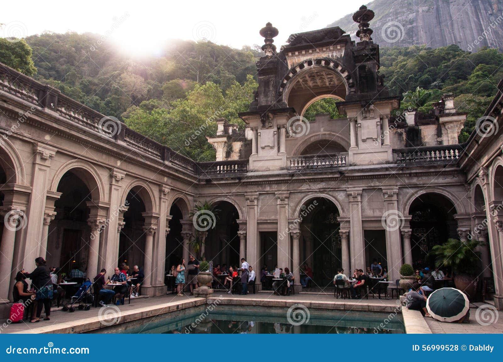 Podwórze dwór Parque Lage w Rio De Janeiro, Brazylia