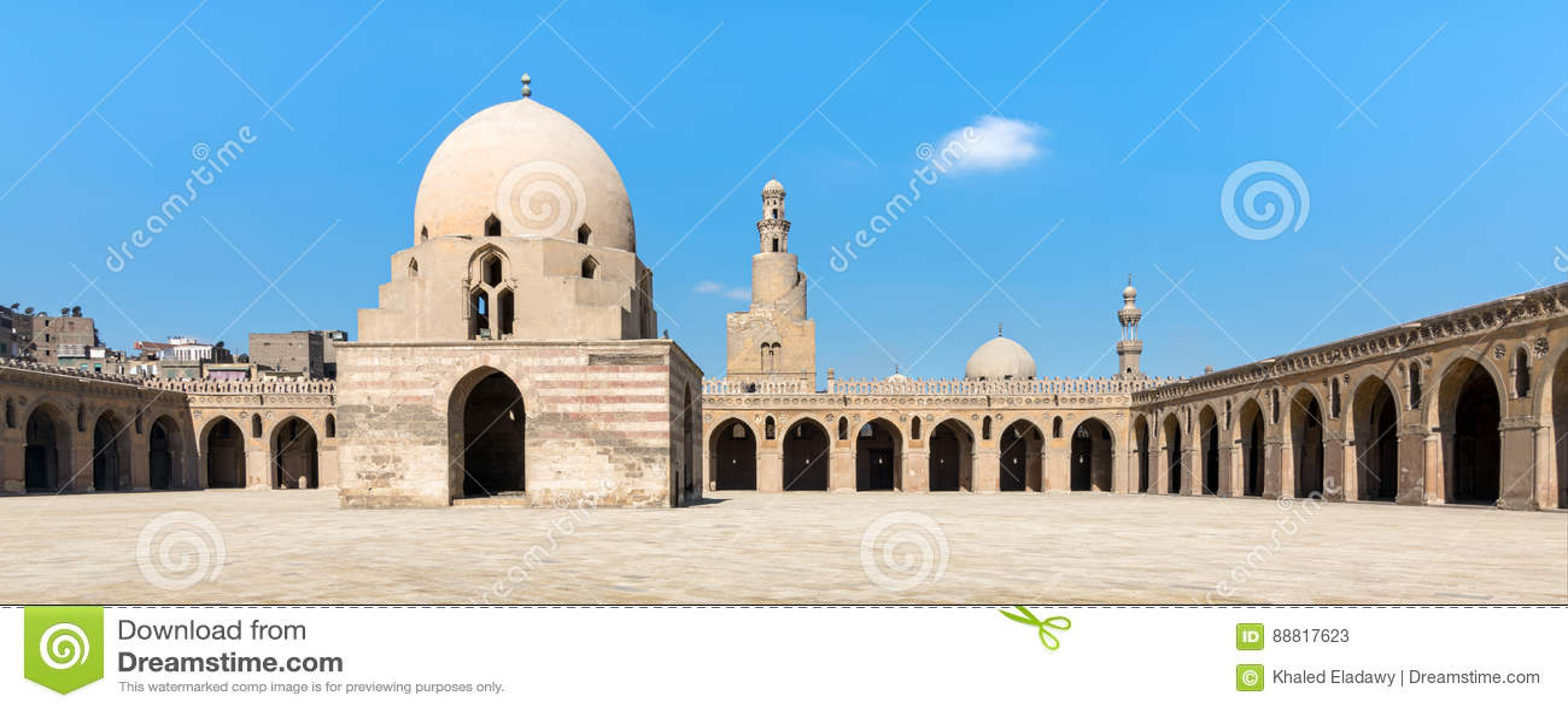 Podwórze Ibn Tulun meczet, Kair, Egipt