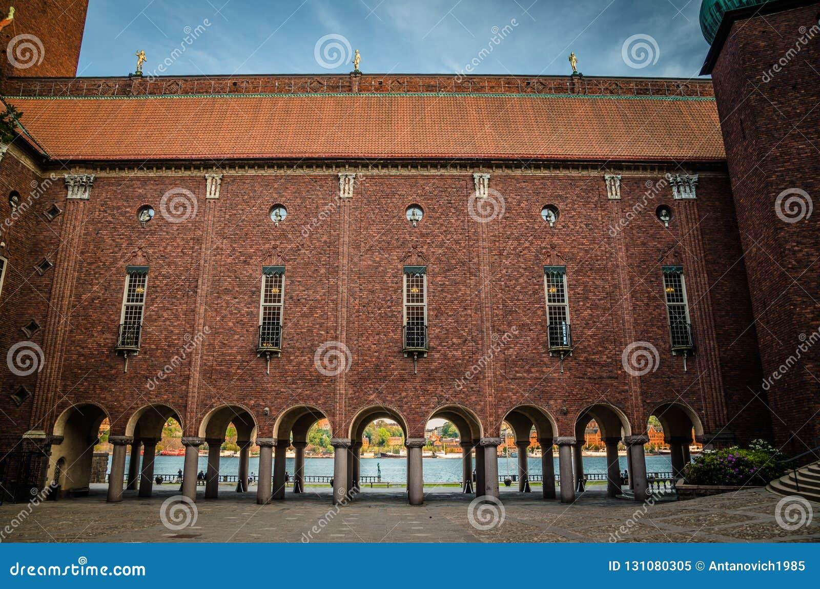 Podwórze w Sztokholm urząd miasta Stadshuset, Szwecja