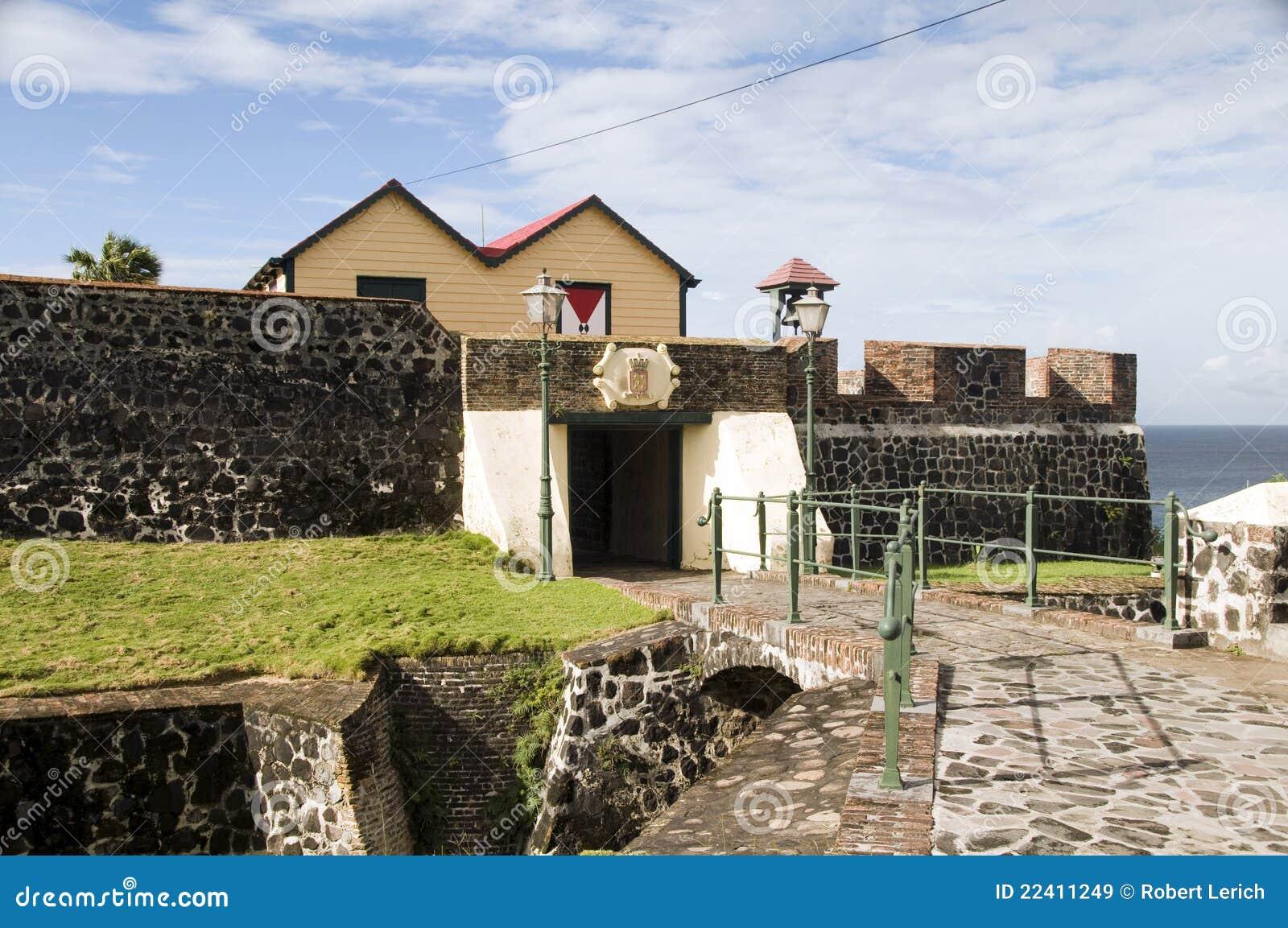 Podwórzowy eustatius fortu oranje oranjestad sint