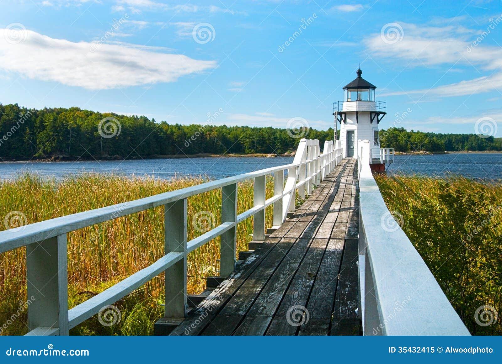 Podwajać punkt latarnię morską Blisko Boothbay, Maine