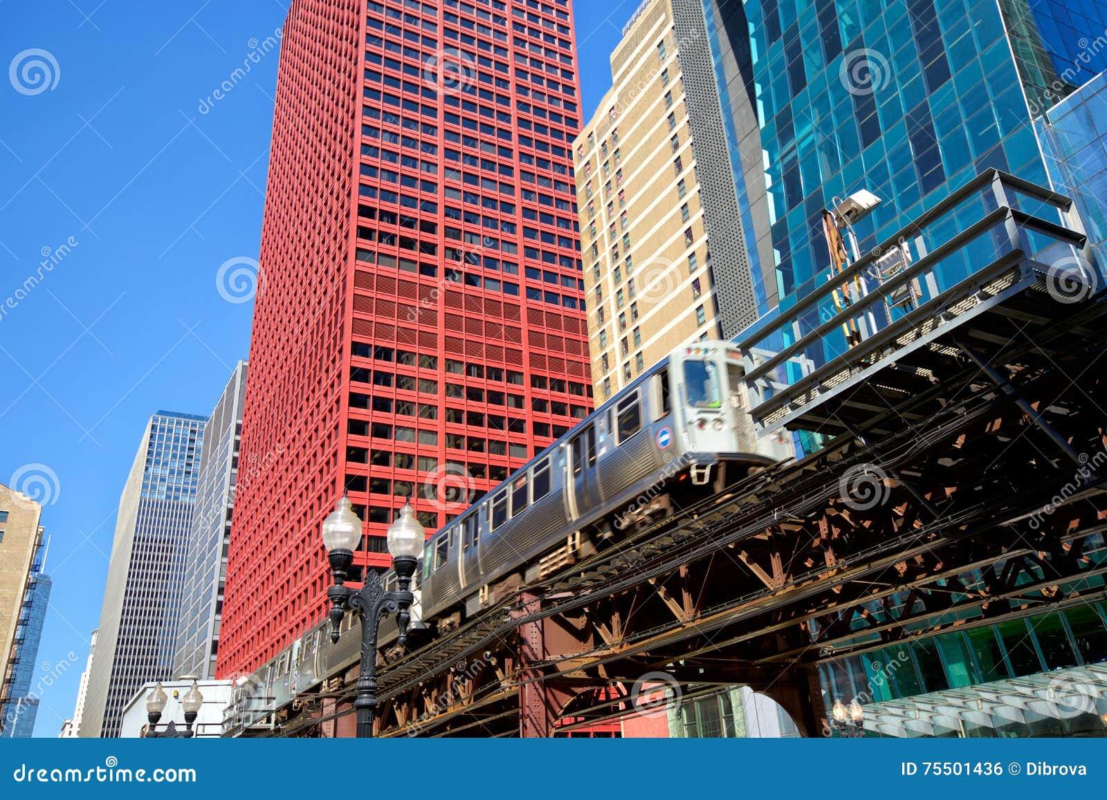 Podwyższony pociąg w Chicago