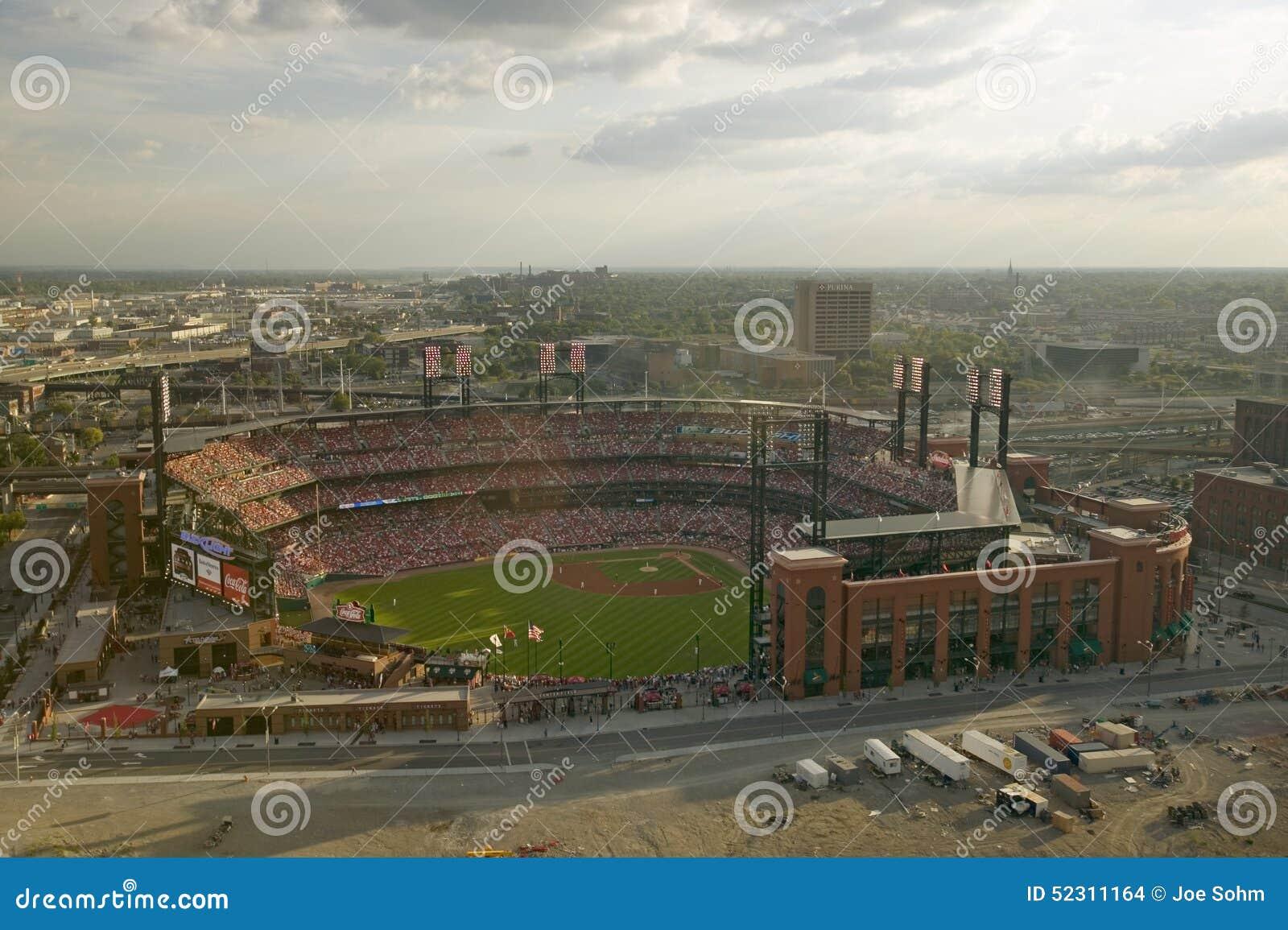 Podwyższony widok trzeci busch stadium, St Louis, Missouri, dokąd pittsburgh pirates rytm 2006 mistrzostw świata Wstawia się