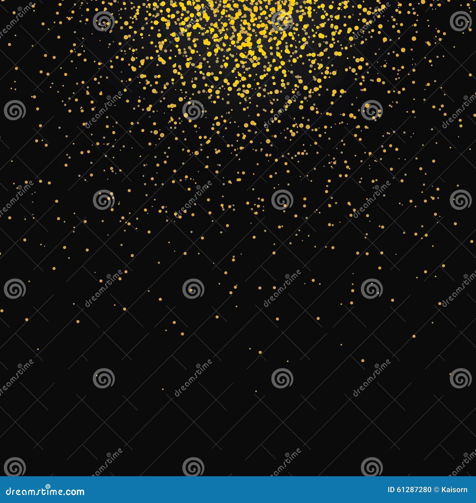 Poeira de estrelas de brilho do bokeh do ouro