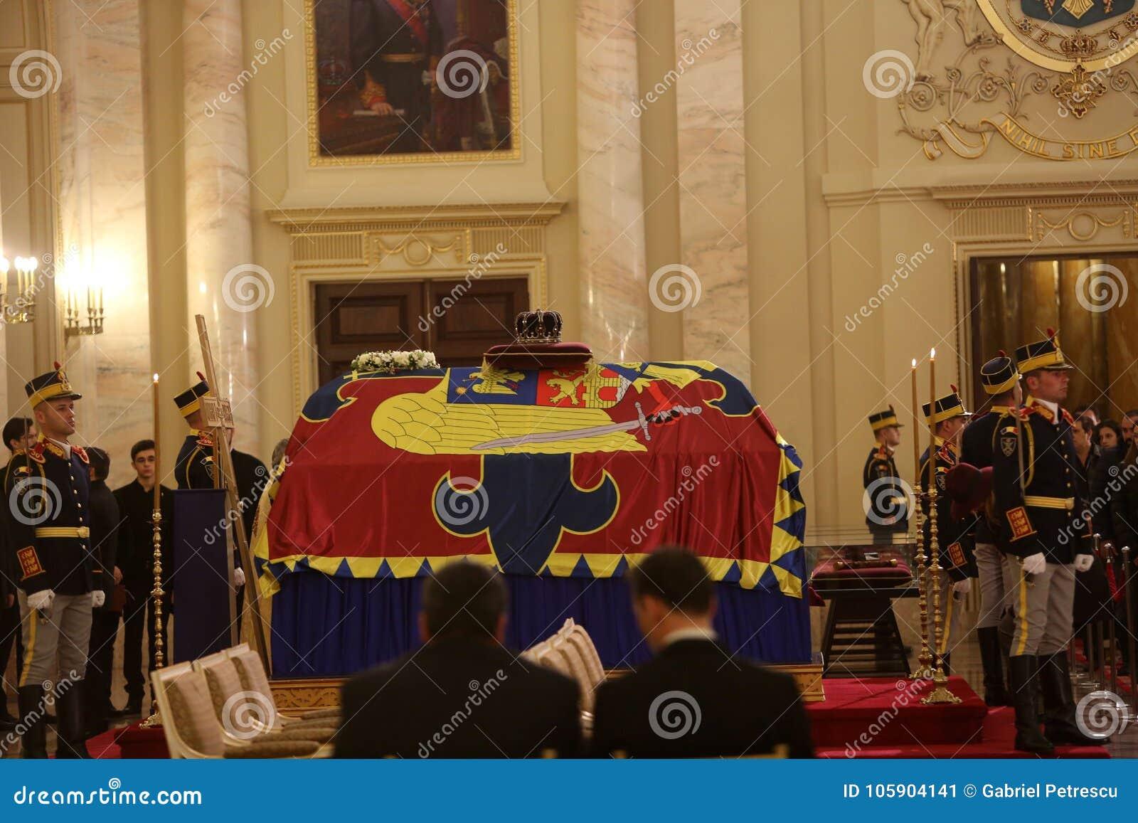 Pogrzeb królewiątko Michael Ja Rumunia