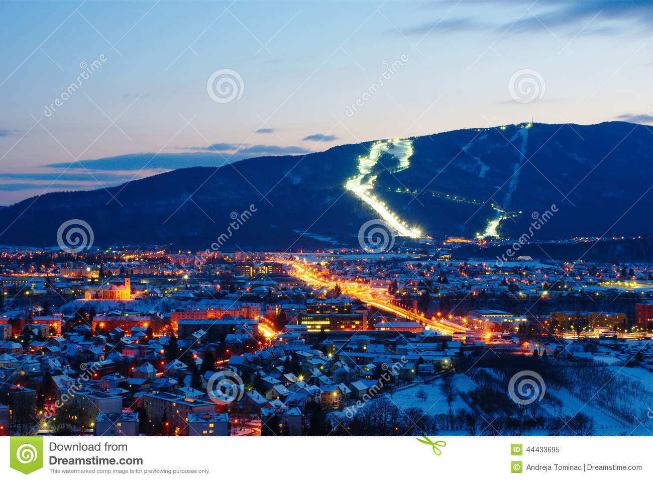 Pohorje And Maribor In Winter, Slovenia Stock Photo - Image: 44433695