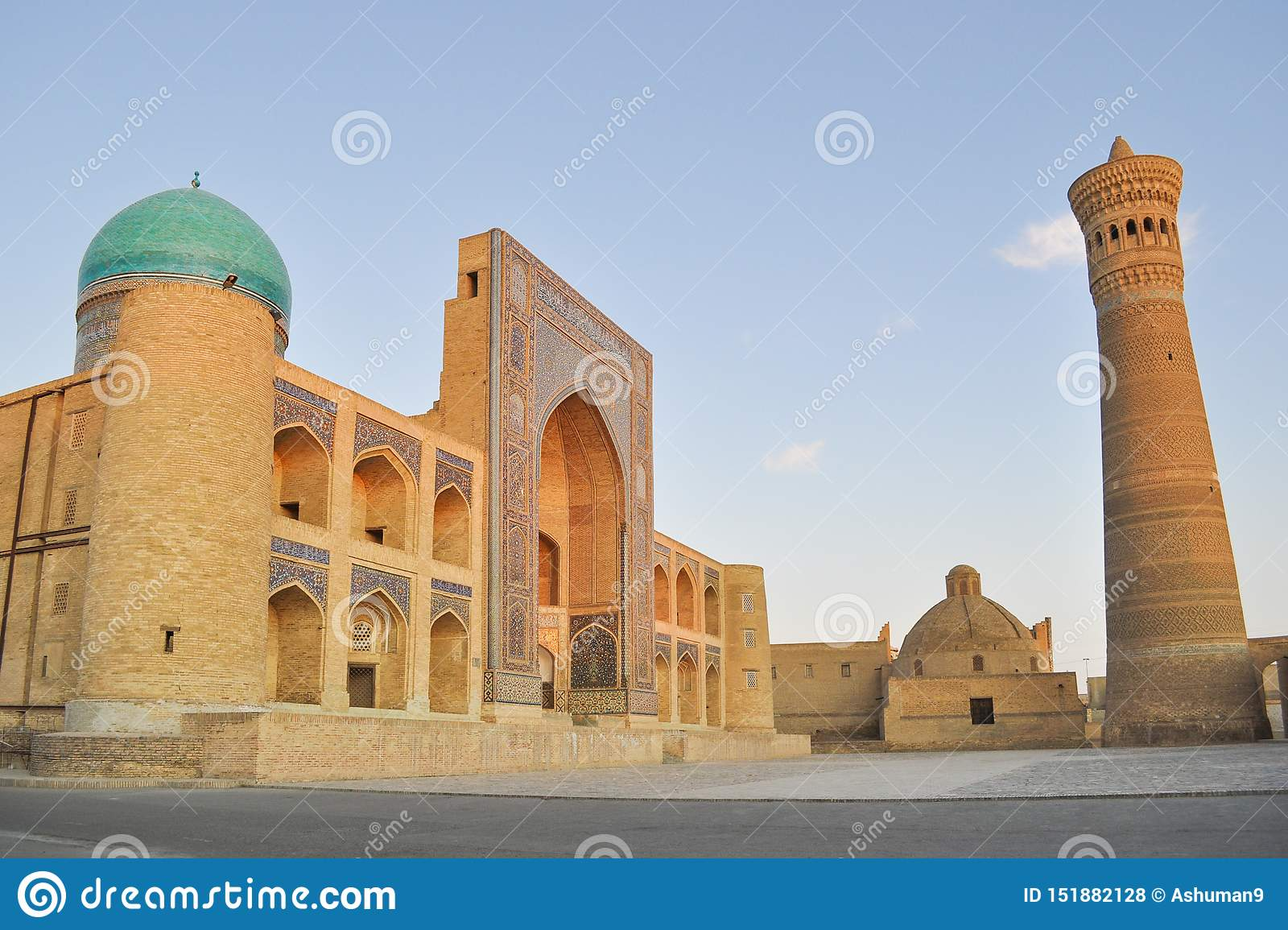 Poi Kalyan Mosque is located in the historical part of Bukhara.